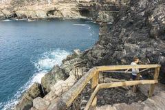 Hol in Ajuy in oostelijke Fuertaventura stock foto