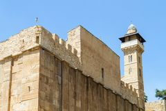 Hol van de Patriarchen, Hol van Machpelah in Hebron, Israël stock fotografie
