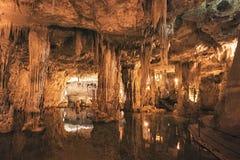 Hol van Neptunus (Grotte Di Nettuno), Sardinige, Italië Stock Afbeeldingen