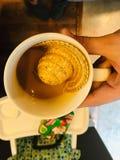 hola咖啡因 免版税库存图片