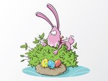 Hola allí huevos de Pascua Fotos de archivo