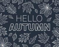 Hola Autumn Background Imagen de archivo