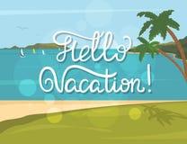 Hola bandera de las vacaciones Imagen de archivo libre de regalías