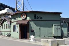 HOLA barra y restaurante en el Embarcadero, 3 de la zambullida Imágenes de archivo libres de regalías