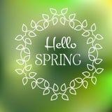 Hola cartel de la primavera libre illustration