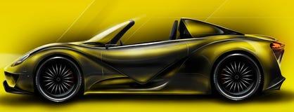 Hola coche de deportes rendido en photoshop stock de ilustración