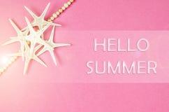 Hola concepto del verano Imagen de archivo libre de regalías