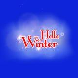 Hola ejemplo del vector del invierno fotos de archivo