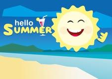 Hola ejemplo del vector del verano Fotos de archivo libres de regalías