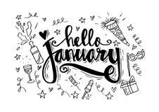 Hola enero libre illustration