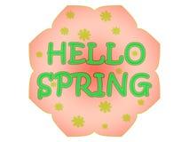 Hola etiqueta de la primavera Fotografía de archivo libre de regalías