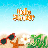 Hola fondo de las vacaciones de verano Vacaciones de la estación, fin de semana Vecto Foto de archivo
