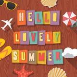 Hola fondo que viaja del verano precioso Imagen de archivo