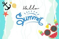 Hola gráficos del verano ilustración del vector