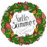 Hola guirnalda floral del verano Imagen de archivo