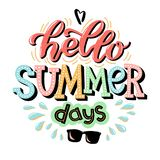 Hola letras de días de verano libre illustration