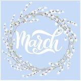 Hola letras de la primavera de marzo Foto de archivo libre de regalías