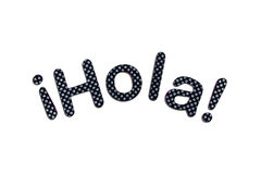 Hola lettering Stock Photos