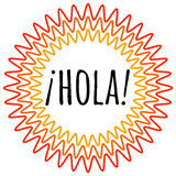 Hola lettering. Translation from spanish is Hello, Hi Royalty Free Stock Photos