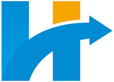 Hola logotipo imágenes de archivo libres de regalías