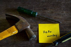 Hola lunes Fotografía de archivo