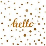 Hola mano-letras Caligrafía hecha a mano del vector Fotos de archivo