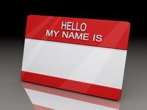 Hola mi nombre es la etiqueta engomada BG Foto de archivo libre de regalías