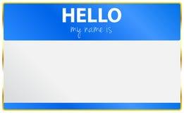 Hola mi nombre es tarjeta Fotografía de archivo