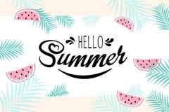 Hola muestra del verano ilustración del vector