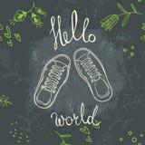 Hola mundo Imagen de archivo libre de regalías