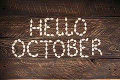 hola octubre Fotografía de archivo