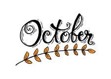 hola octubre stock de ilustración