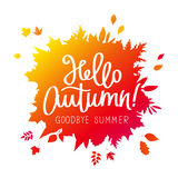Hola, otoño Adiós, verano stock de ilustración