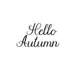 Hola otoño Inscripción moderna manuscrita de la caligrafía Letras del cepillo del vector Fotografía de archivo libre de regalías