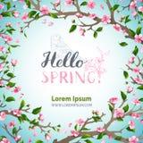 Hola plantilla de la primavera Foto de archivo libre de regalías