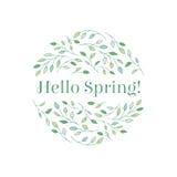 Hola primavera Fotografía de archivo libre de regalías