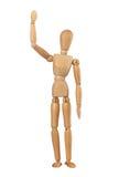 Hola que agita del hombre simulado de madera imagen de archivo libre de regalías