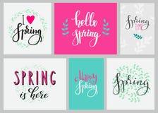 Hola sistema de la tipografía de la primavera Imagen de archivo