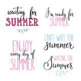 Hola sistema de la tipografía de las letras del verano Fotos de archivo