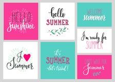 Hola sistema de la tipografía de las letras del verano Fotografía de archivo libre de regalías
