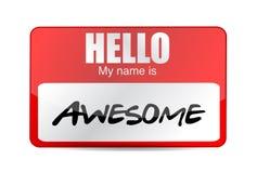 Hola soy etiqueta impresionante. Diseño del ejemplo Foto de archivo libre de regalías