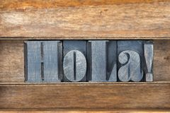 Hola wooden tray Royalty Free Stock Photography