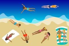 Hola tarjeta de verano stock de ilustración