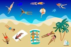 Hola tarjeta de verano ilustración del vector