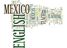 From Hola To Hello Teach English In Mexico Word Cloud Concept Royalty Free Stock Image