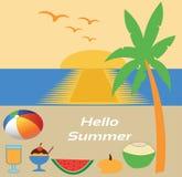 Hola vacaciones de verano en la playa Foto de archivo