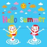 Hola verano Imagenes de archivo