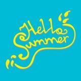 Hola verano Foto de archivo libre de regalías