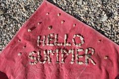 Hola verano Fotografía de archivo