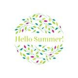 Hola verano Fotos de archivo libres de regalías